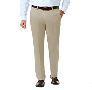 Haggar H26 Men's Performance 4 Way Stretch Straight Fit Trouser Pants - Khaki 36x30