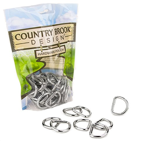 Country Brook Design - American Made 1 Inch Welded D-Rings (50 Pack)