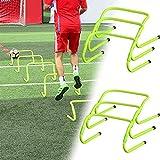 massager El Conjunto de obstáculos de coordinación de 5 obstáculos de Entrenamiento Ajustable de fútbol Hurdles Velocidad de fútbol de obstáculos, Entrenamiento de Agilidad