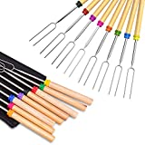 Ezire Roasting Sticks, Marshmallow Roasting Sticks 32 Inch Extendable Forks for BBQ at The Campfire...
