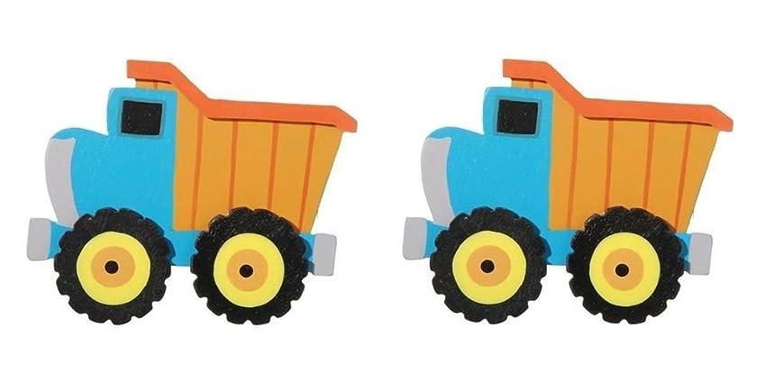 Darice Layered Natural Painted Wood Cutout - Dump Truck - Set of 2