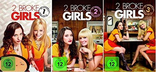 2 Broke Girls - Staffel/Season 1+2+3 * DVD Set
