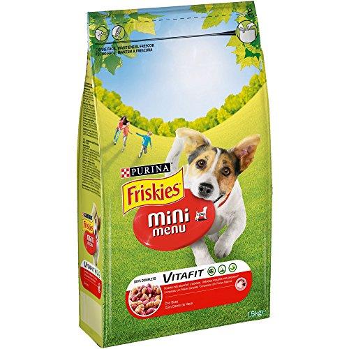 Purina Friskies Vitafit Mini Menu Pienso para Perro Adulto Buey 6 x 1,5 Kg