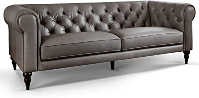 372f9ce1fa5e76 Moebella Leder Chesterfield Sofas 3-2-1-Sitzer Sitzgarnitur Couch Hudson  Voll-