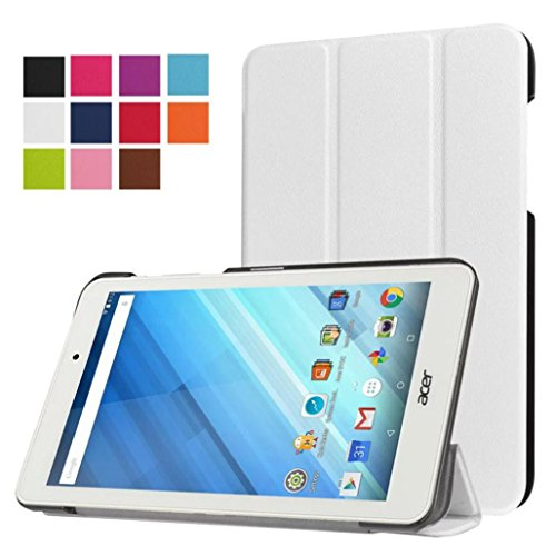 Clode One 8 B1-850 Ultra Leather Smart Case Cover for Acer Iconia (white)