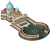 Playtastic 3D Rompecabezas Kits: Fascinante Rompecabezas 3D Basílica de San Pedro con la Plaza de San Pedro en Roma, 56 Piezas (niños Juguete)