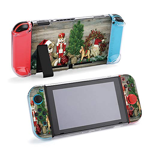 SUPNON Switch Case Compatible with Nintendo Switch Games Protective Hard Carrying Cover Case for Nintendo Switch Console Joy Con Controlle - Vintage Christmas Decoration , Rocking Horse Design28768