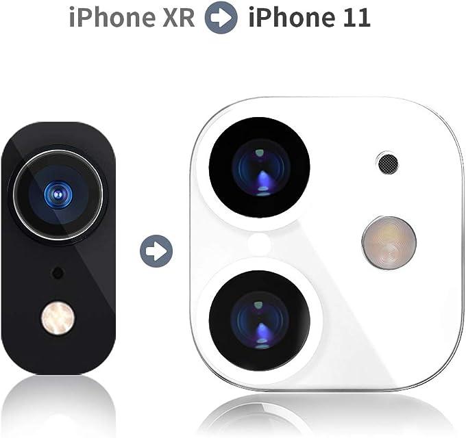 Volwco - Protector de Lente HD para iPhone XR (Cristal Templado de Alta definición para Cambiar a iPhone 11 Protector de cámara antiarañazos Ultrafino (Cambia de XR a 11)