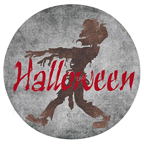 DKISEE Halloween Zombie Round/Square Seat Cushion, Polyester Soft Memory Foam Chair Pad for Tatami Carpet Wooden Floor Office Kitchen Dining Chairs, 15 Inch Dia