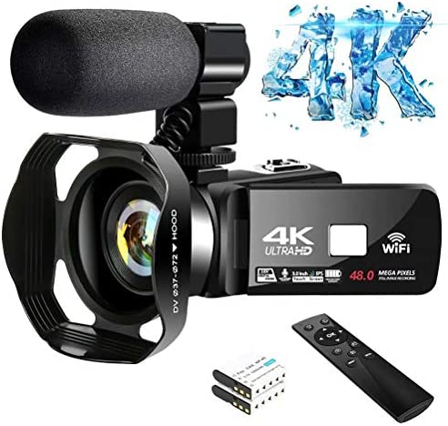 4K Video Camera Ultra HD Camcorder 48 0MP IR Night Vision Digital Camera WiFi Vlogging Camera product image