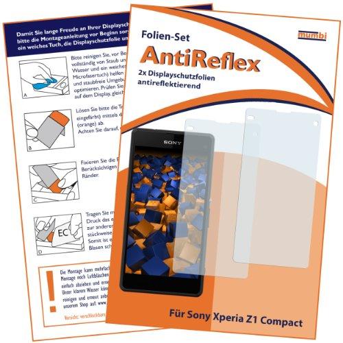mumbi Schutzfolie kompatibel mit Sony Xperia Z1 Compact Folie matt, Displayschutzfolie (2x)