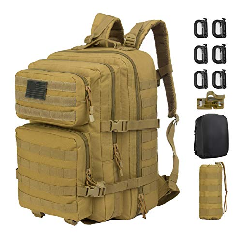 GZ XINXING 3 day Assault Pack Military Tactical Army Backpack Bug Out Bag Daypack (Tan)