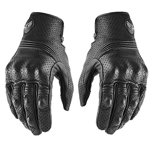 Motorfietshandschoenen Lederen Moto Rijhandschoen Touchscreen Volledige Vinger Ademend Handschoen 1 Paar M