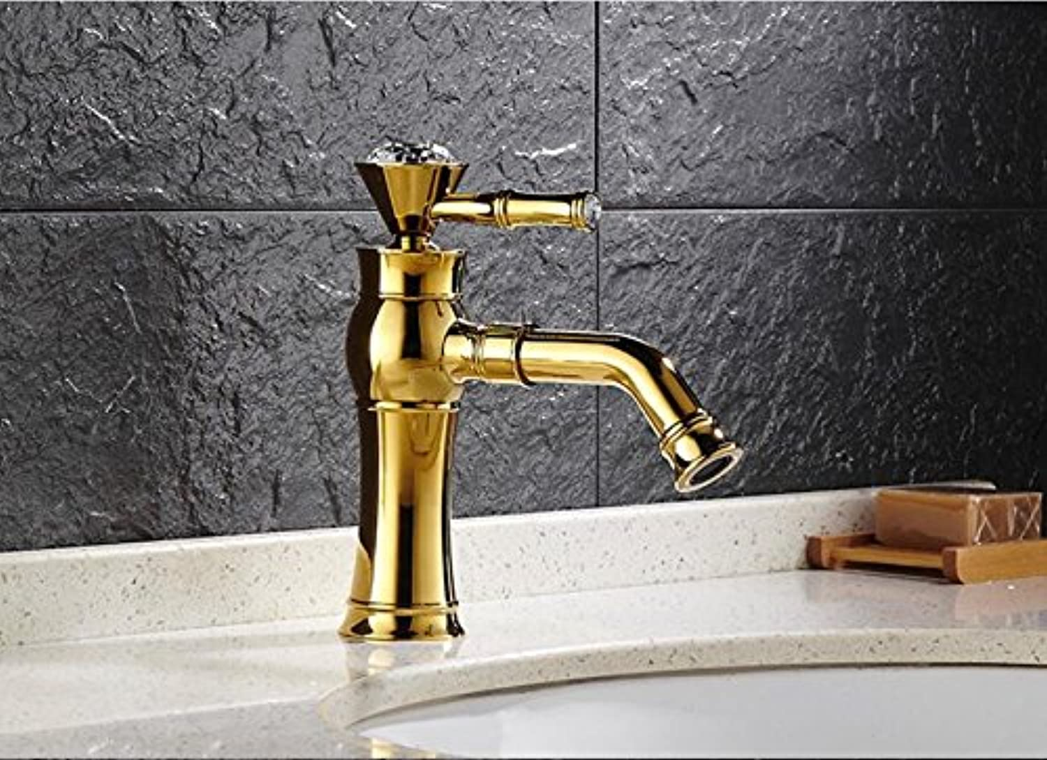 Makej Bathroom Faucet Antique Brass gold Bathroom Basin Faucet,Luxury Sink Tap Basin Mixer High Quality Water Tap