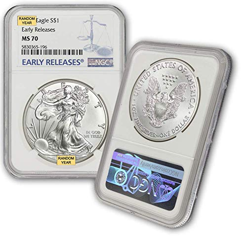 2006 - Present Silver American Eagle MS-70 (Early Releases) NGC by CoinFolio $1 MS70 NGC