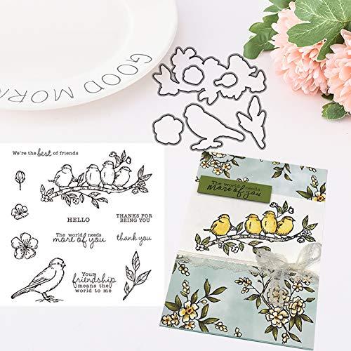 TankMR Metall Stanzformen, Prägeschablone Vorlage für DIY Scrapbook Album Papier Karte Kunsthandwerk Dekoration, Vogel Briefmarke