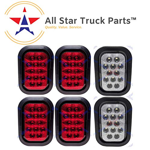 TOOGOO 2X LED Rosso Riflettore Coda Freno Stop marcatore Leggero Camion Trailer ATV RV Motor SUV
