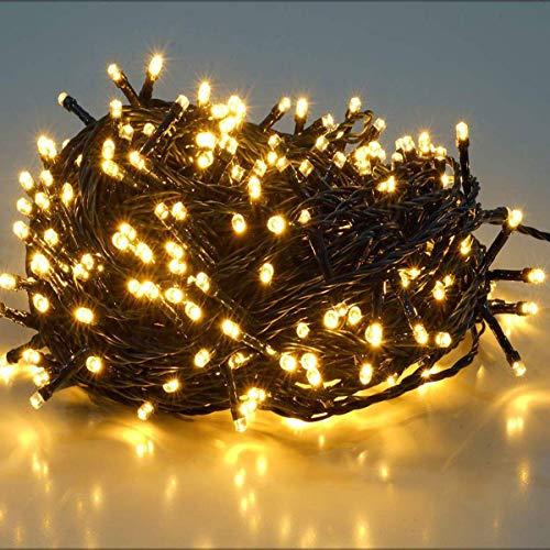 SALCAR 23m 360er LED Lichterkette Niedervolt wasserdichte dekorative Leuchten LED String Licht Wünderschöne Deko für Weihnachten, Hochzeit, Zuhause, Garten, Balkon, Terrasse - Warmweiß