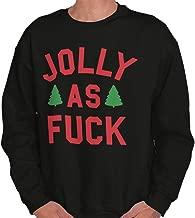 Jolly As Fuck Offensive Christmas Holiday Crewneck Sweatshirt