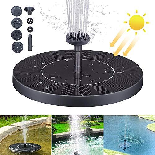 QUTAII Solar Springbrunnen, Solar Teichpumpe mit 1.2W Solar Teichpumpe Outdoor Wasserpumpe Solar Schwimmender Brunnen Solarpumpe Floating Pump für Gartenteich,Pool,Vogel-Bad, Kleiner Teich (16CM)