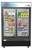 KoolMore MDR-2D-GSLD Commercial Glass 2 Door Display Refrigerator Merchandiser - Upright Beverage...