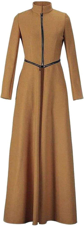 Alion Womens Winter Warm Long Maxi Wool Blend Trench Pea Coat Overcoat