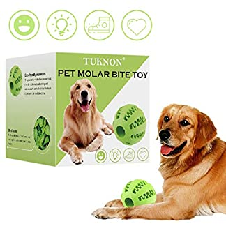 Dog Tooth Cleaning Ball, Pet Molar Bite Toy, Dental Chew Treat Ball for Dogs, Pet Molar Bite Toy Dog Toy Ball, Interactive Pet Training Toy 1