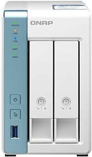 QNAP TS-231P3-4G 2 Bay NAS AnnapurnaLabs, an Amazon company Alpine AL314, 4-core, 1.7GHz 4GB SO-DIMM DDR3 Hot-swappable 1x...