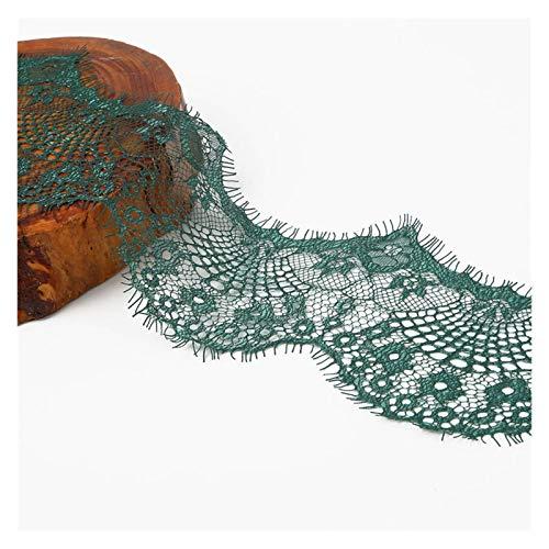 DJNCIA Hermosamente 3 PCS 3 Yardas 9.5 cm 14 Colores Opción Flor Bordado Tela de Encaje Tienda Cintas DIY Costura Materiales Hechos a Mano para decoración de Costura Artesanal,