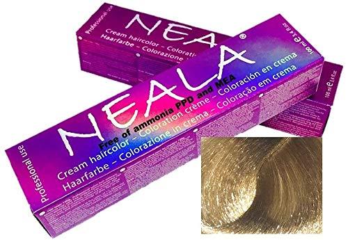 Professionele kleuring haarkleur zonder ammoniak en vrij van PPD en MEA - 9.13 -ZEER LICHT GOUDEN AS - NEALA 100 ml.