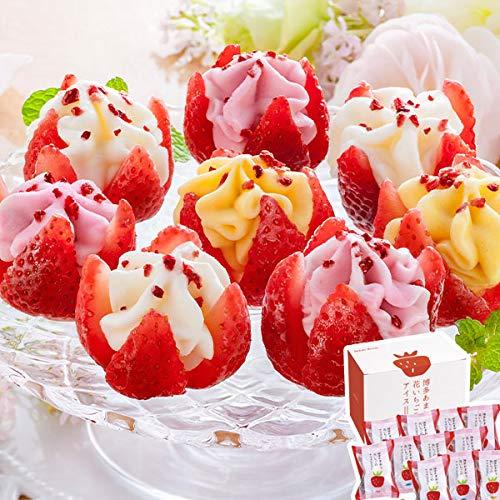 花いちごのバラエティアイス(博多あまおう)11個入り 高級苺・いちごフェアー ※離島・沖縄・北海道は配送不可