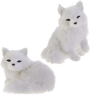 RAZ Imports Fox Figurines/Christmas Ornaments — Set of 2 Faux Fur Fox Ornaments