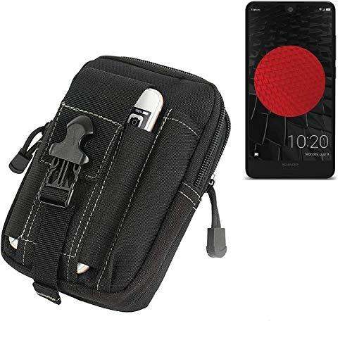K-S-Trade Gürtel Tasche Für Sharp Aquos C10 Gürteltasche Holster Schutzhülle Handy Hülle Smartphone Outdoor Handyhülle Schwarz Zusatzfächer