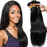 16'(40cm) SEGO Extensiones de Cortina de Pelo Natural [Brazilian Human Hair 3 Bundles] Cabello Humano Brasileño Liso Straight (300g)