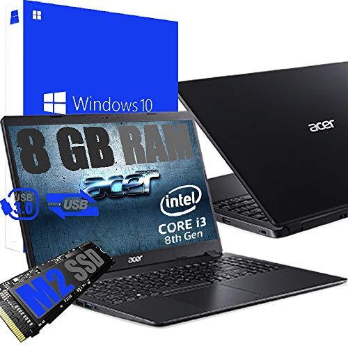 Ordenador portátil Acer Intel Core i3 de 8 gen hasta 3,4