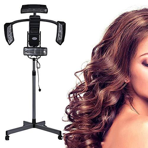 950W Infrarot Stand Up Haartrockner Trockenhaube Haartrockenhaube Friseur Professionel Haar Dauerwelle Farbe Beschleuniger Prozessor Timer Temperatur Einstellbar Salon Haar Möbel
