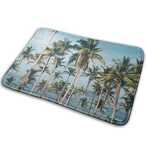 N\A Sunshine Palm Tree Seaside Felpudo Decoración del hogar Felpudos Antideslizantes Interior/Exterior/Puerta de Entrada/Baño Alfombras de Entrada Alfombra Personalizada Alfombra de Piso Alfombra