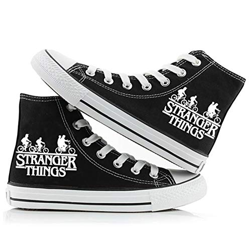 Fira Woo Stranger Things Chaussures Unisexe Chaussures de Toile Luminous Casual Shoes