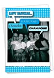 NobleWorks - Funny Hanukkah Greeting Card with Envelope - Religious Holiday Humor, Jewish Chanukkah Notecard - 4 Out of 5 Jews 1089