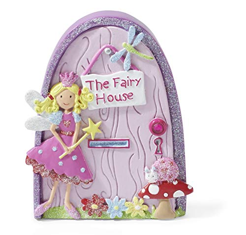 Kids 'The Fairy House' Magical Fairy Door (Glittery Hand Painted Skirting Board / Wall / Door Ornament) Lucy Locket