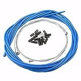 VGEBY1 Juego de Cables de Freno de Bicicleta, Cable de Freno de Bicicleta Juego de Cables de Freno Cable de Freno de Bicicleta MTB Bicicleta de Carretera Accesorios de Repuesto(Azul)