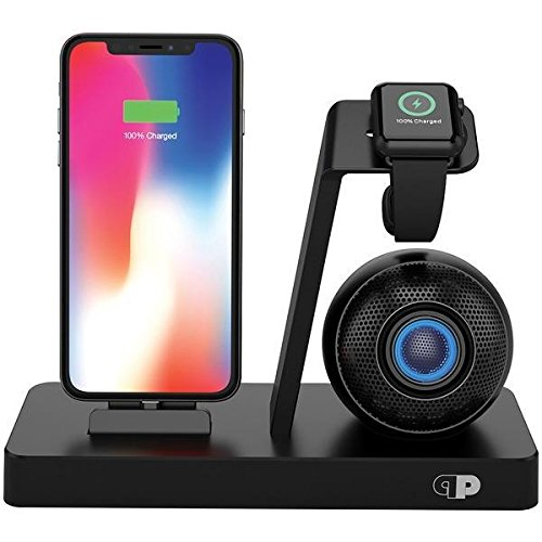 Press Play iPhone Speaker Dock With Built-in Lightning Connector for Apple Watch