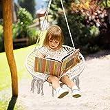 Surophy Hamac chaise Macramé Swing,Petite balançoire pour 2-16 enfants et...