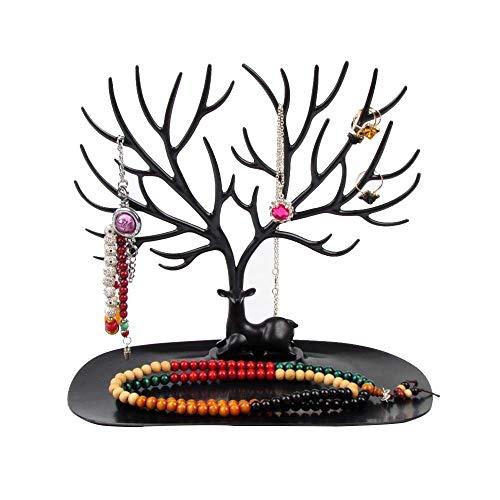 Estante de joyería Soporte de exhibición de joyería de Escritorio de plástico Anillo Collar de Mano Soporte de Pendiente para Torres de joyería para el hogar