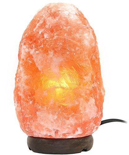 Greenco Natural Himalayan Rock Salt Lamp 6-11 lbs with Wood Base, Electric...
