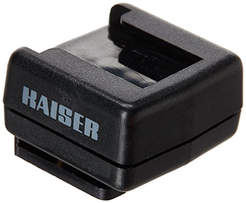 Kaiser Fototechnik 1300 - Zapata de conexión para flash, negro