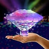 SUNSHIN 7 Colores LED lámpara Flotante Piscina Impermeable Color cambiante luz de baño, para baño Disco Estanque Piscina niño baño Juguetes