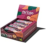 nucao Veganer Bio Superfood Riegel – Macadamia Chai – Nährstoffreiche Vegane Schokolade mit knackigen Hanfsamen & kräftigem Roh-Kakao [12er Pack | Paleo Bar | Rohkost-Riegel | Low Sugar | Plastikfrei]