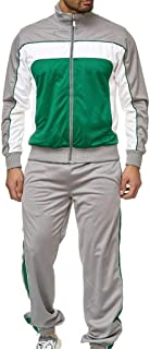 iHHAPY Men's Casual Tracksuit Set Running Jogging Track Suit Jacket and Pants Training Wear Athletic Sweat Suits