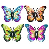 Aroma Tree Butterfly Metal Garden Wall Art Set -...